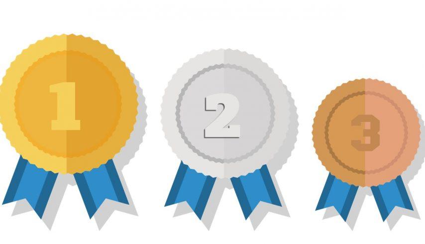 Medalhas ouro, prata e bronze